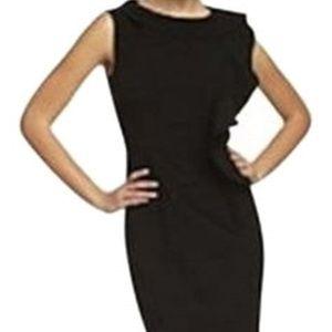 Calvin Klein NWT Black Ruffle Sheath Dress